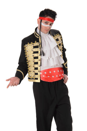 prince charming mens fancy dress 80s new adam ant