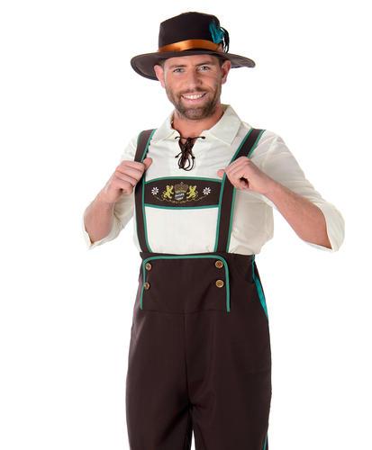 Bavarian Mens Fancy Dress Oktobefest German Beer Festival Adults Costume Outfit