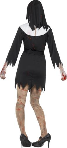 Zombie nun ladies halloween fancy dress undead sister womens adults