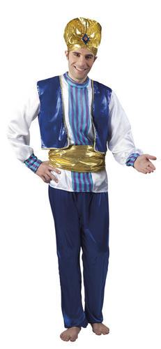 Genie Mens Fancy Dress Arabian Nights Alibaba Aladdin Adults ...