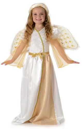 Angelic Angel Girls Fancy Dress Christmas Nativity Childrens Kids Childs Costume
