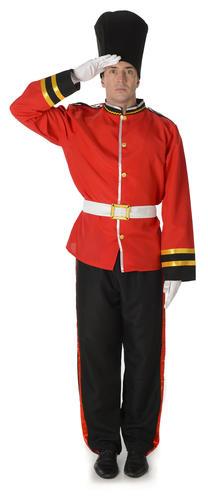 Royal Busby Guard Mens Fancy Dress British London Uniform Adults Costume Outfit