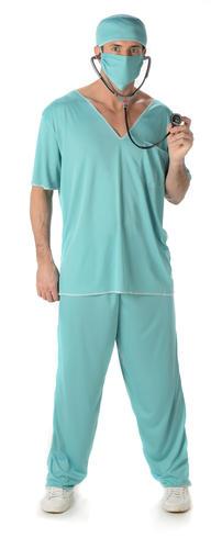 Dottore Scrubs Costume Da Uomo Ospedale Pronto Soccorso Uniforme Adulti Costume vestito Chirurgo