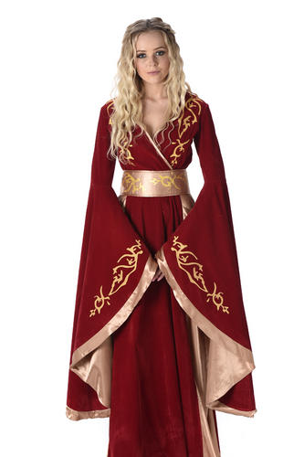 game of thrones ladies fancy dress medieval queen cersei daenerys adults costume ebay. Black Bedroom Furniture Sets. Home Design Ideas
