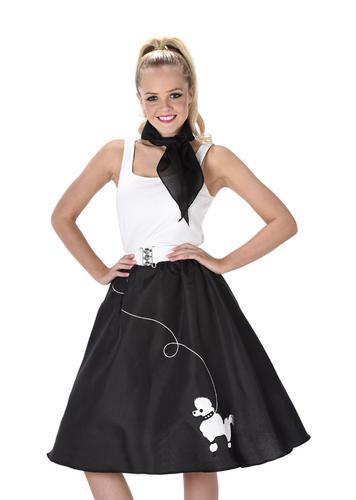 Rock and Roll barboncino Gonna Donna Costume 50s 60s Adulti Costumi da Donna Nuovo