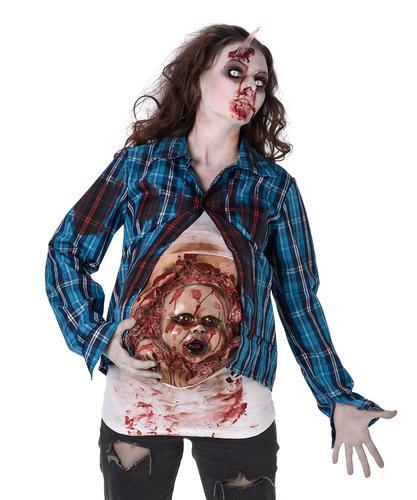 Deluxe incinta Zombie Bambino Ragazze Halloween Costume Adulti Da Donna