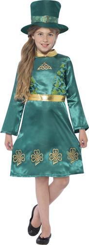 Leprechaun Girls Fancy Dress Irish St Patricks Day Kids Child Costume Outfit New