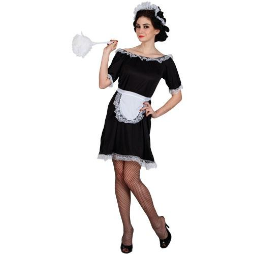 French-Maid-Dress-Headpiece-Ladies-Fancy-Dress-Hen-Party-Womens-Costume-Outfit