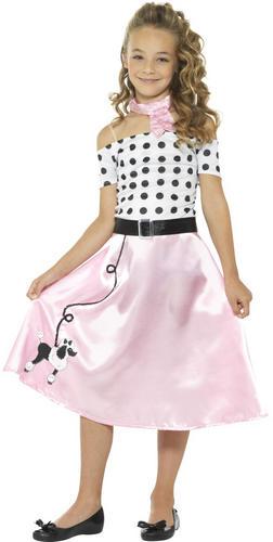 50s Barboncino Ragazze Costume Rock and Roll 1950 60s per Bambini Ragazzi Costume Outfit