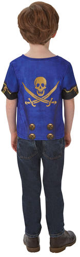 Pirate Shirt Boys Fancy Dress Caribbean Buccaneer Book Day Week Kids Costume Top