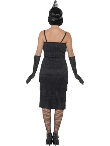Donna Nero Flapper Costume 20s Charleston JAZZ Danza Da Donna Adulti Costume