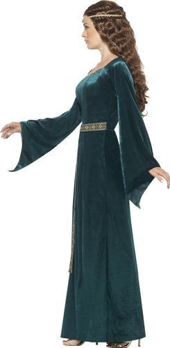Medieval Marian Maid Ladies Fancy Dress Tudor Princess Book Dat Adults Costume