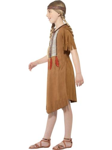 Native American Kids Fancy Dress Wild West Western Red Indian Childrens Costume