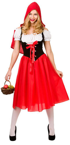 Tights Ladies Fancy Dress World Book Day Womens Adults Costume Red Riding Hood
