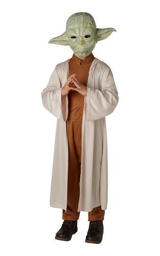 Yoda Boys Fancy Dress Star Wars Jedi Scifi Film Book Day Kids Childs Costume New