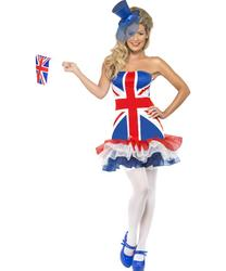 View Item Ladies Fever Rule Britannia Tutu Dress Costume