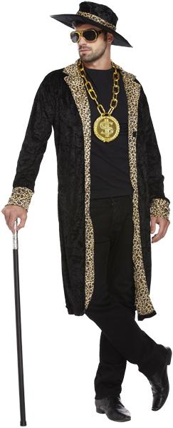 Adult gold hustlah pimp costume