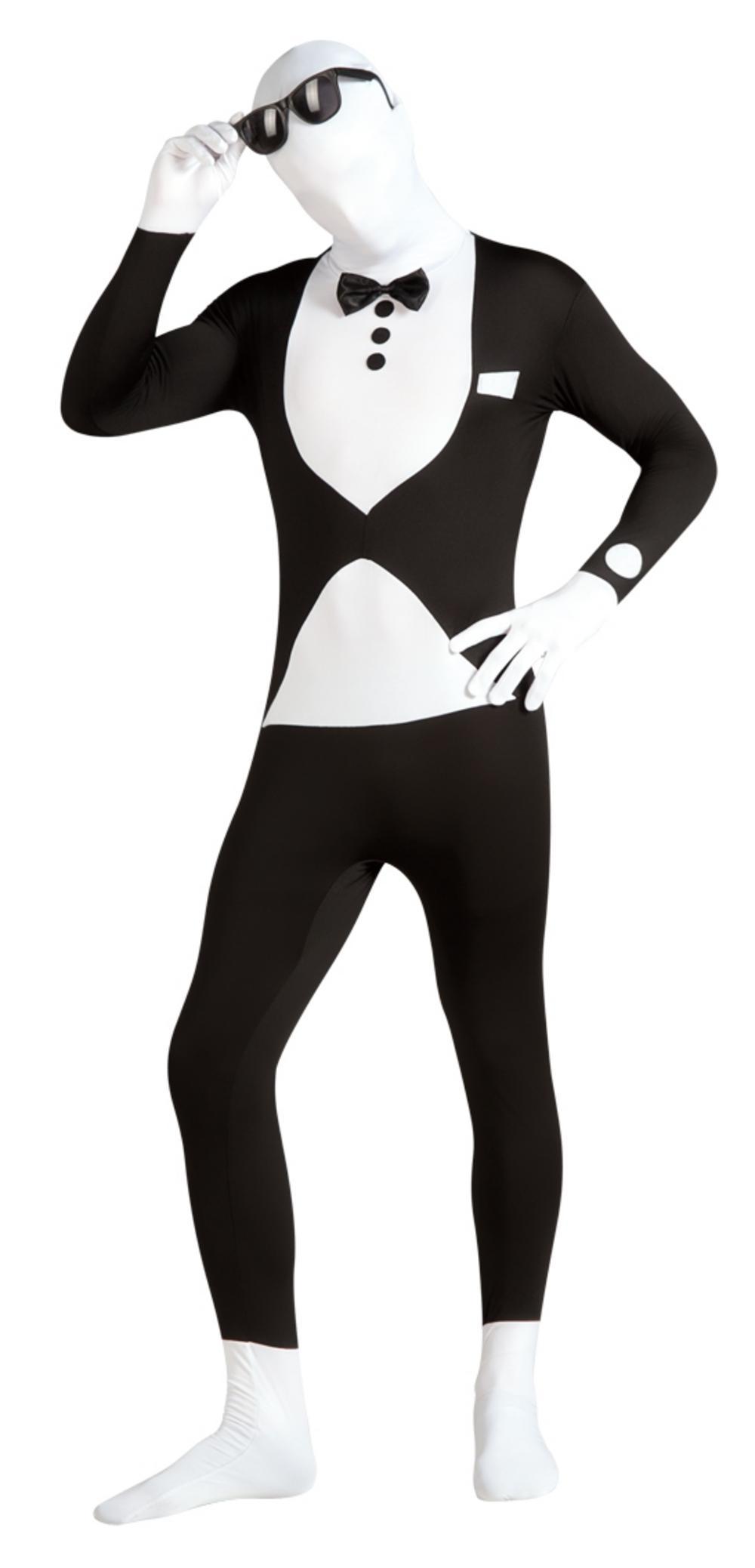 tuxedo second skin suit stag party costumes mega fancy dress. Black Bedroom Furniture Sets. Home Design Ideas
