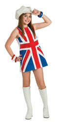 View Item Girls British Invasion Union Jack Dress Costume