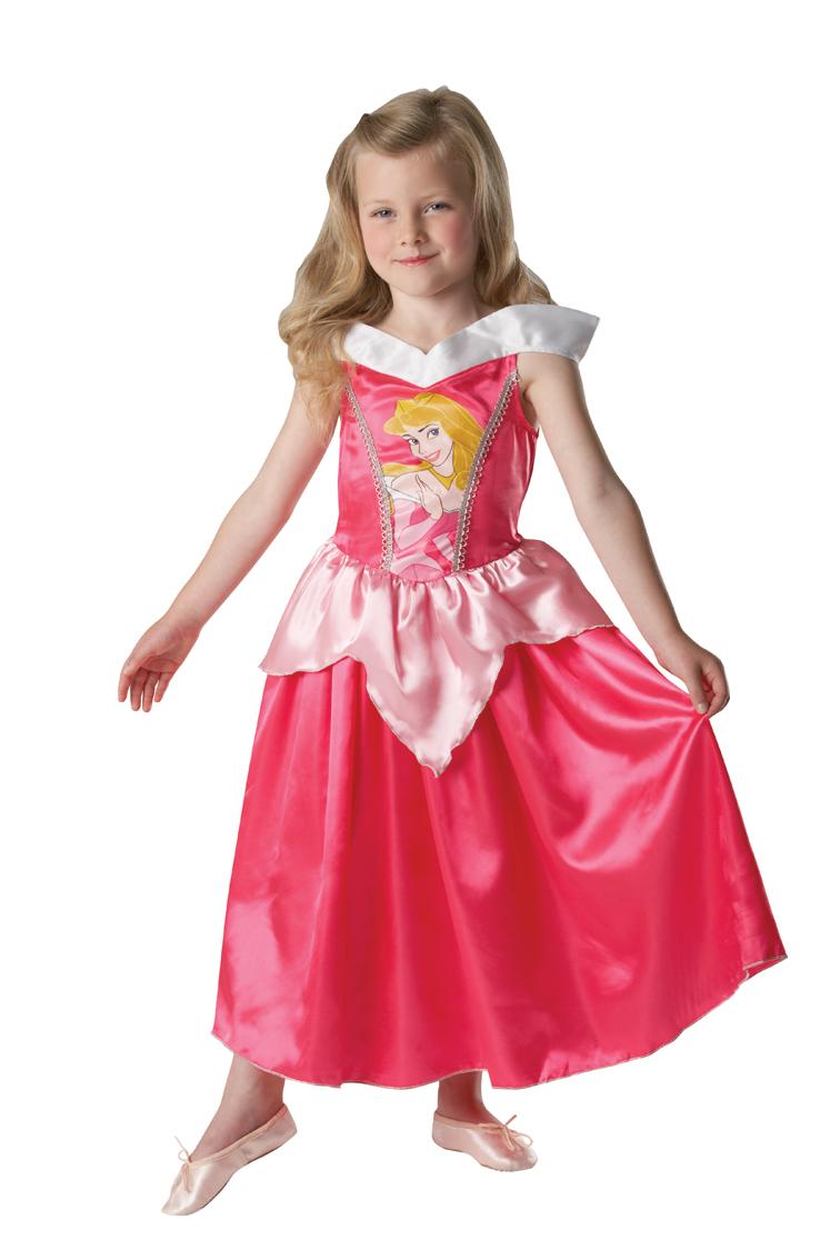 sleeping beauty classic disney princess aurora fancy dress girls child costume ebay. Black Bedroom Furniture Sets. Home Design Ideas