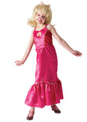 View Item Girls Deluxe Officially Licensed The Muppets Miss Piggy Fancy Dress Costume