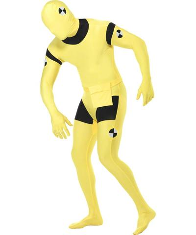 Yellow Crash Dummy Second Skin Suit Costume