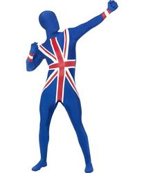 View Item Union Jack Second Skin Stretchy Lycra Fancy Dress Suit