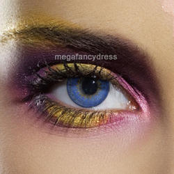 View Item Blue 3 Tone Fashion Contact Lenses Adult Eye Accessories