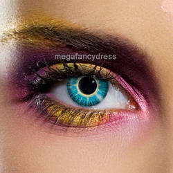 View Item Fusion Yellow and Blue Fashion Contact Lenses Adult Eye Accessories