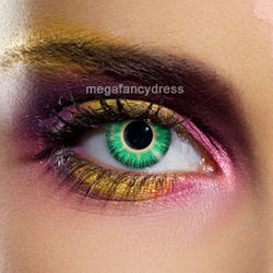 View Item Fusion Green and Yellow Fashion Contact Lenses Adult Eye Accessories