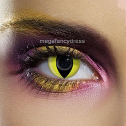 View Item Yellow Cat Eye Contact Lenses Adult Eye Accessories