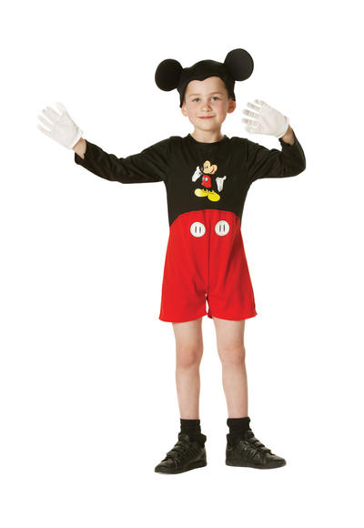 Kids Official Disney Classic Mickey Mouse Fancy Dress Costume