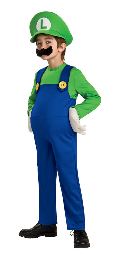 View Item Kids' Super Mario 'Luigi' Deluxe Fancy Dress Costume