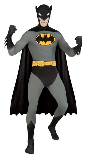 Batman Second Skin Fancy Dress Suit