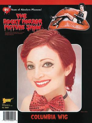 Rocky Horror Show Columbia Red Wig