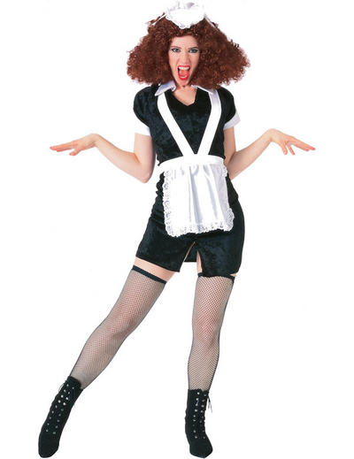 Ladies Rocky Horror Show Magenta Fancy Dress Costume