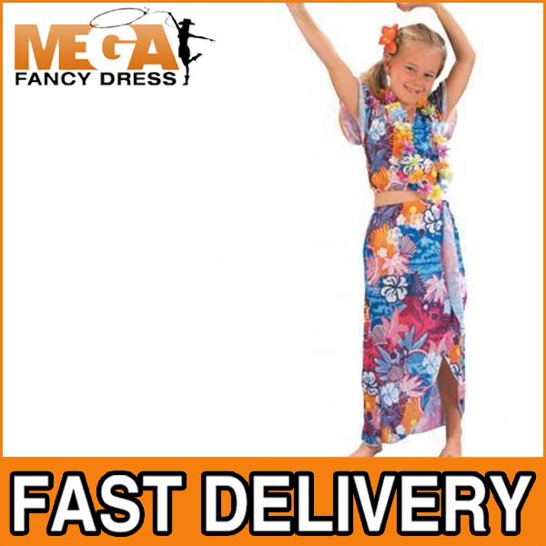 Girls-Hawaiian-Beauty-Tropical-Fancy-National-Dress-Child-Kids-Costume-Ages-4-12