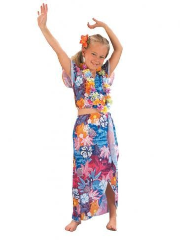 Girls-Hawaiian-Beauty-Tropical-Fancy-National-Dress-Child-Kids-Costume-Ages-4-12