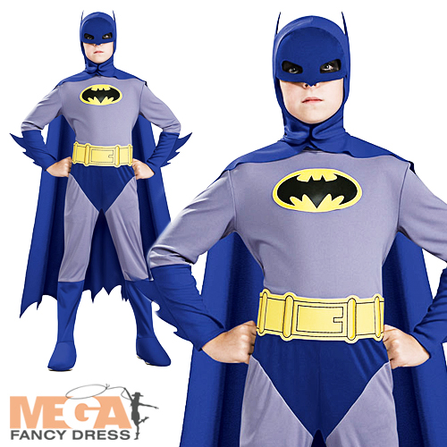 Image is loading Batman-Brave-&-Bold-Kids-Fancy-Dress-Boys-  sc 1 st  eBay & Batman Brave u0026 Bold Kids Fancy Dress Boys Superhero Costume Kids ...