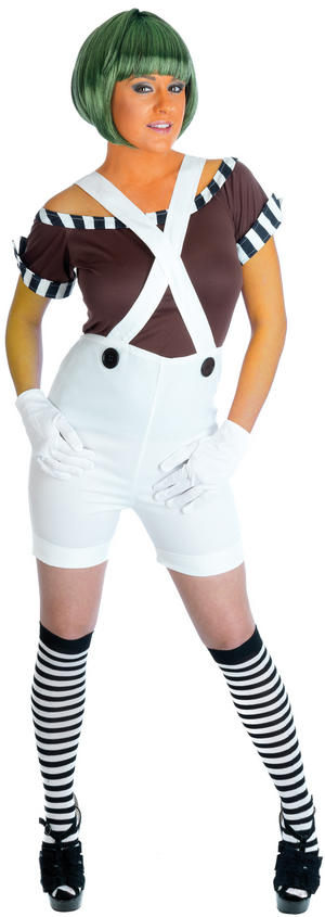 Sexy Oompa Loompa Factory Worker Costume