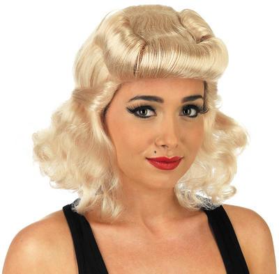 Ladies Blonde 40s Pin Up Wig