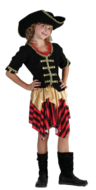 View Item Girls Buccaneer Sweetie Pirate Costume