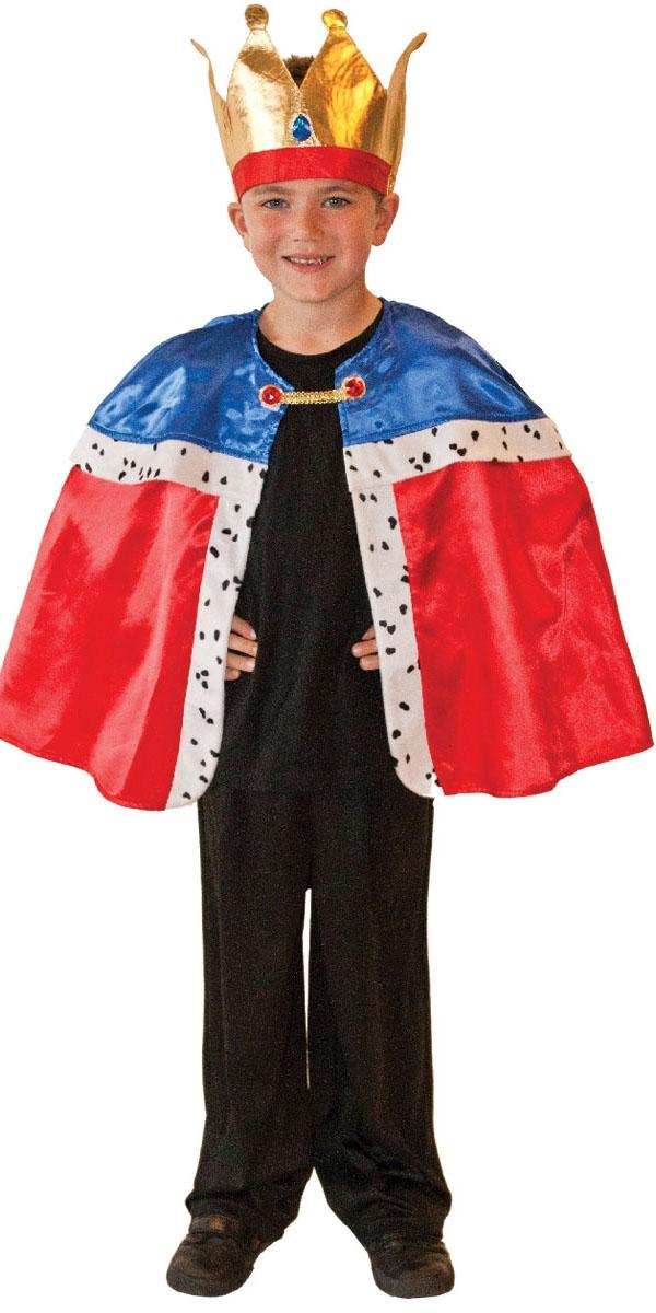 Boys king cape amp crown nativity christmas fancy dress child kids