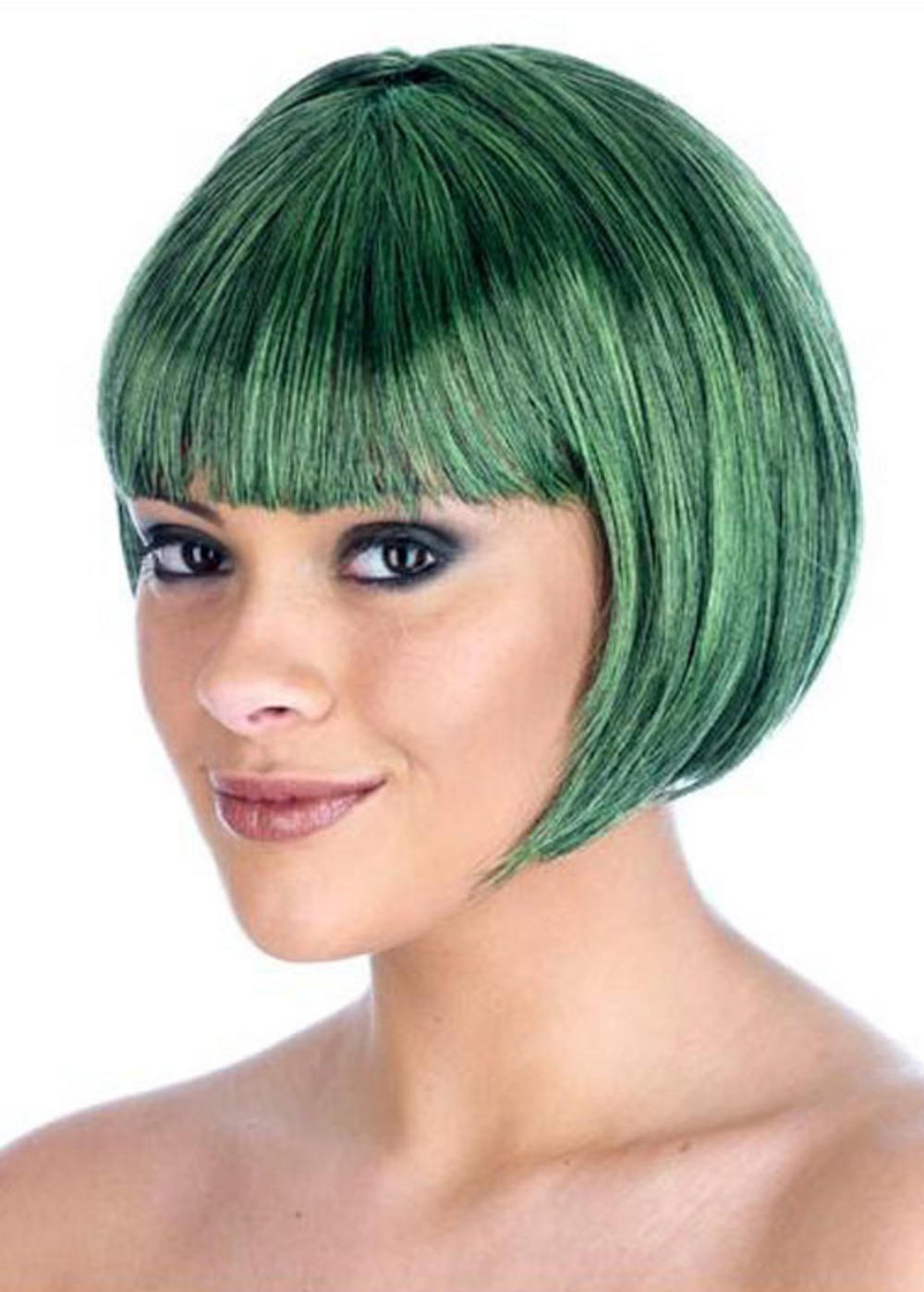 Dark Green Wigs 27