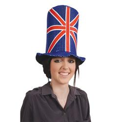View Item Union Jack Sequin Top Hat