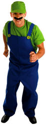 View Item Green Plumbers Mate 80s Costume