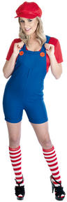 View Item Red Plumbers 80s Costume