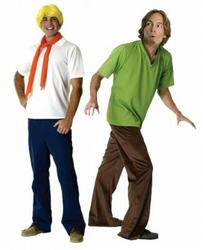 View Item Mens' Shaggy Doo & Fred Group Fancy Dress Costume