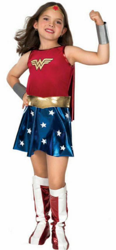 View Item Girls' Wonder Woman Fancy Dress Costume