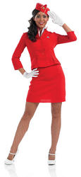 View Item Red Cabin Crew Costume